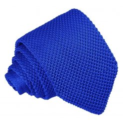 Royal Blue Knitted Slim Tie