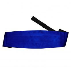 Royal Blue Plain Satin Cummerbund