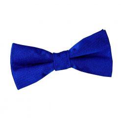 Royal Blue Plain Satin Pre-Tied Bow Tie for Boys