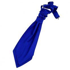 Royal Blue Plain Satin Pre-Tied Wedding Cravat for Boys