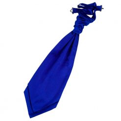Royal Blue Plain Satin Pre-Tied Wedding Cravat