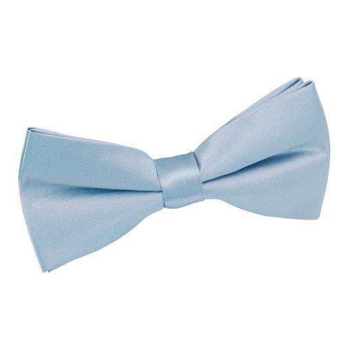 Dusty Blue Plain Satin Pre-Tied Bow Tie