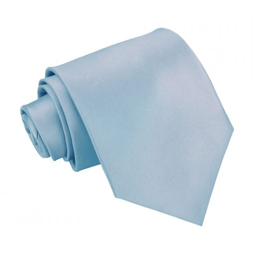 Dusty Blue Plain Satin Classic Tie