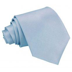 Dusty Blue Plain Satin Extra Long Tie