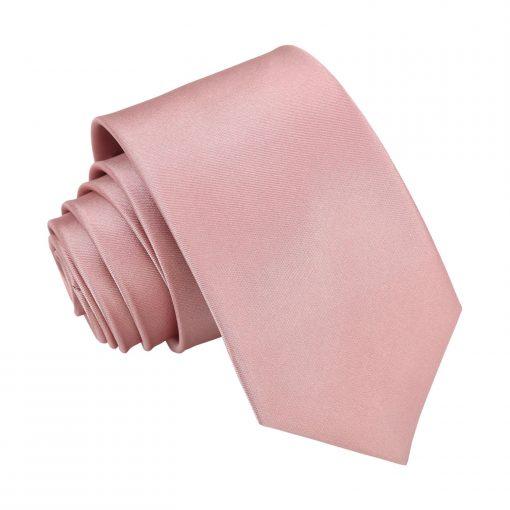 Dusty Pink Plain Satin Regular Tie for Boys