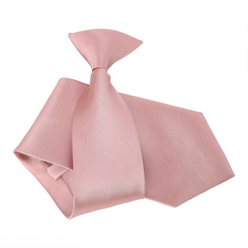 Dusty Pink Plain Satin Clip On Tie