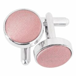 Dusty Pink Plain Satin Cufflinks