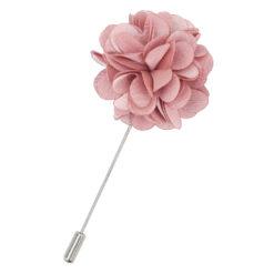 Dusty Pink Plain Satin Lapel Pin
