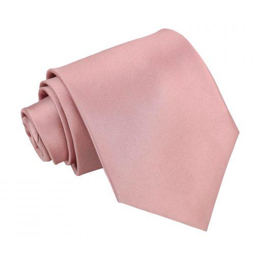 Dusty Pink Plain Satin Classic Tie