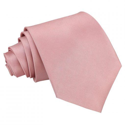 Dusty Pink Plain Satin Extra Long Tie