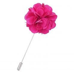Hot Pink Plain Satin Lapel Pin