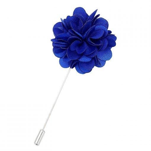 Royal Blue Plain Satin Lapel Pin