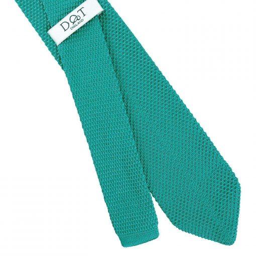 Teal Knitted Slim Tie