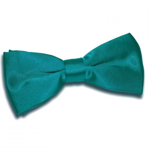Teal Plain Satin Pre-Tied Bow Tie