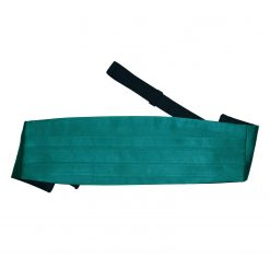 Teal Plain Satin Cummerbund