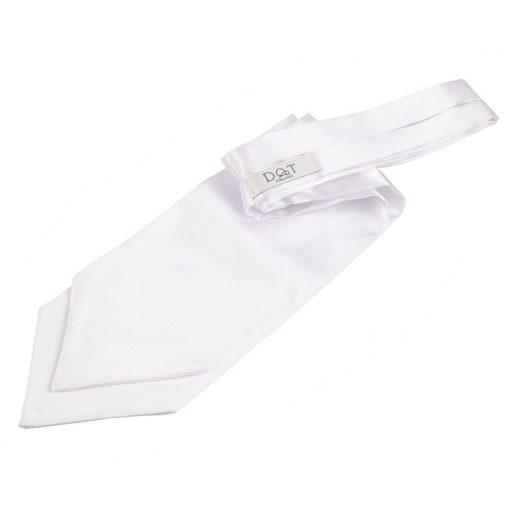 White Plain Satin Self-Tie Wedding Cravat