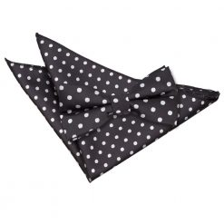 Black Polka Dot Bow Tie & Pocket Square Set