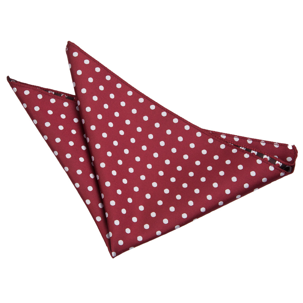 Polka Dot Burgundy Handkerchief / Pocket Square