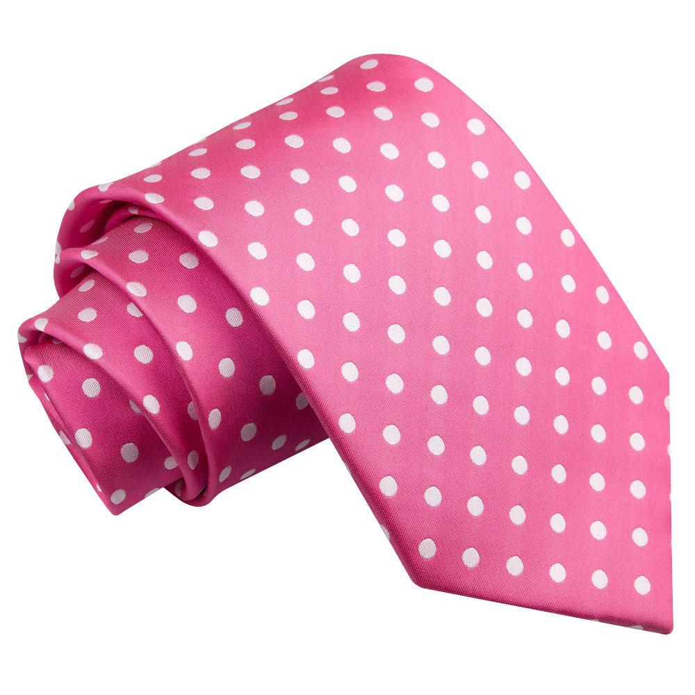 s polka dot pink tie