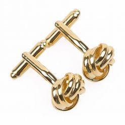 Gold Knot Plated Cufflinks