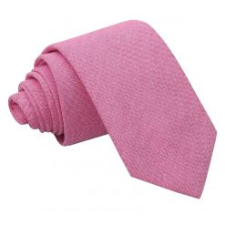 Amaranth Pink Chambray Cotton Slim Tie