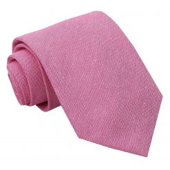 Amaranth Pink Chambray Cotton Classic Tie