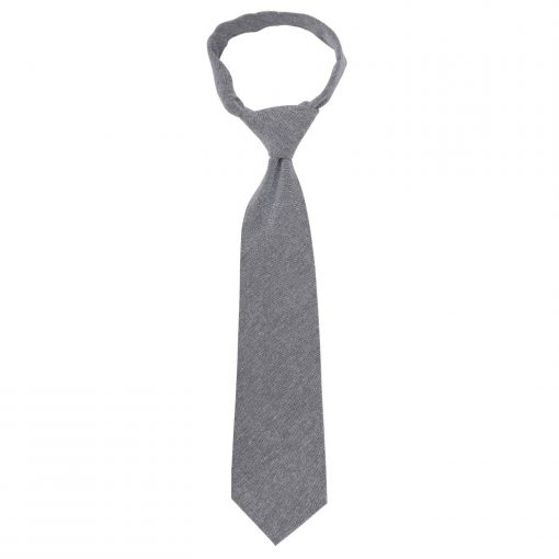 Charcoal Chambray Cotton Classic Tie