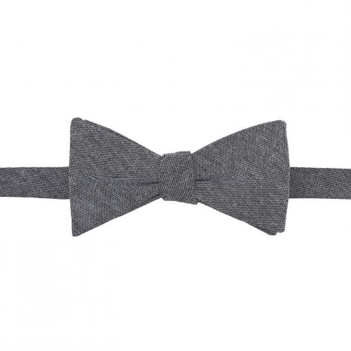 Charcoal Chambray Cotton Thistle Self Tie Bow Tie
