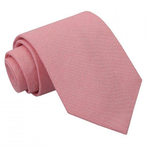 Coral Chambray Cotton Classic Tie