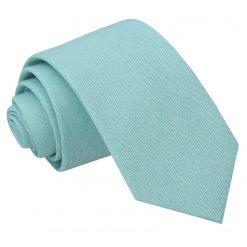 Light Turquoise Chambray Cotton Slim Tie