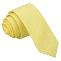 Light Yellow Chambray Cotton Skinny Tie