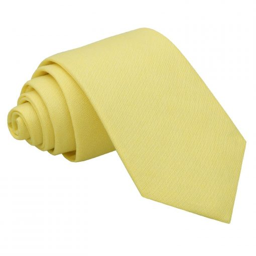 Light Yellow Chambray Cotton Slim Tie