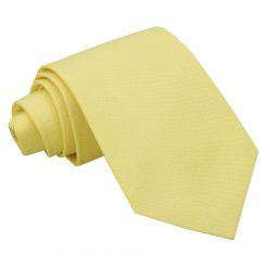 Light Yellow Chambray Cotton Classic Tie