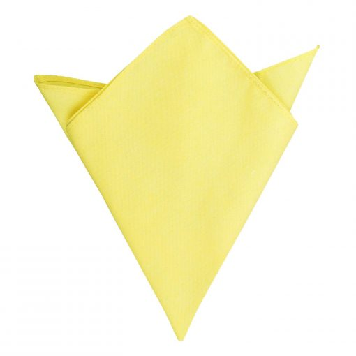 Light Yellow Chambray Cotton Handkerchief / Pocket Square