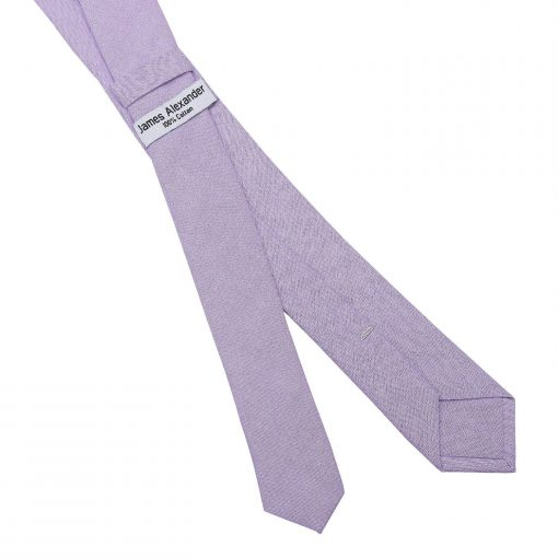 Lilac Chambray Cotton Skinny Tie