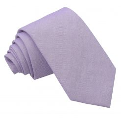 Lilac Chambray Cotton Slim Tie