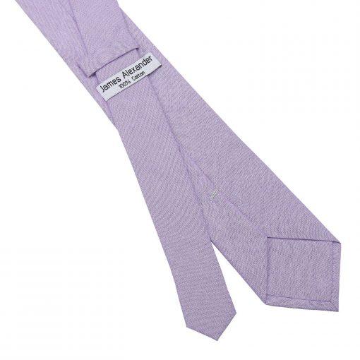 Lilac Chambray Cotton Slim Tie