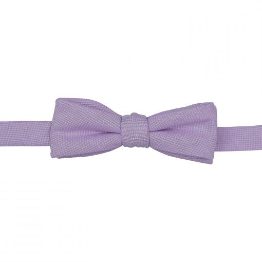Lilac Chambray Cotton Batwing Self Tie Bow Tie
