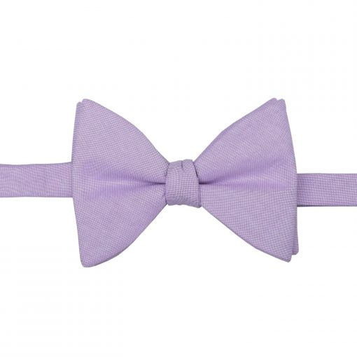 Lilac Chambray Cotton Butterfly Self Tie Bow Tie