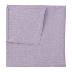 Lilac Chambray Cotton Handkerchief / Pocket Square