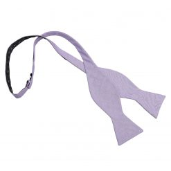 Lilac Chambray Cotton Thistle Self Tie Bow Tie