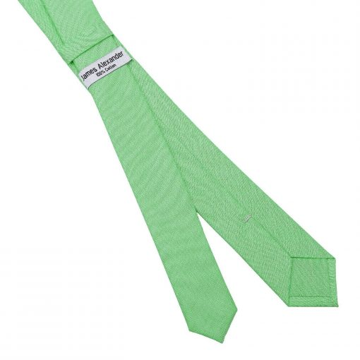 Mint Green Chambray Cotton Skinny Tie