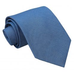 Parisian Blue Chambray Cotton Classic Tie