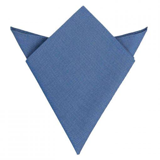 Parisian Blue Chambray Cotton Handkerchief / Pocket Square
