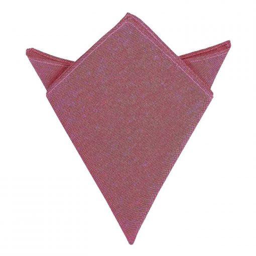 Red Chambray Cotton Handkerchief / Pocket Square