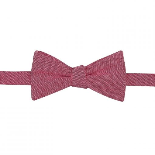 Red Chambray Cotton Thistle Self Tie Bow Tie