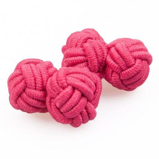 Hot Pink Knot Cufflinks