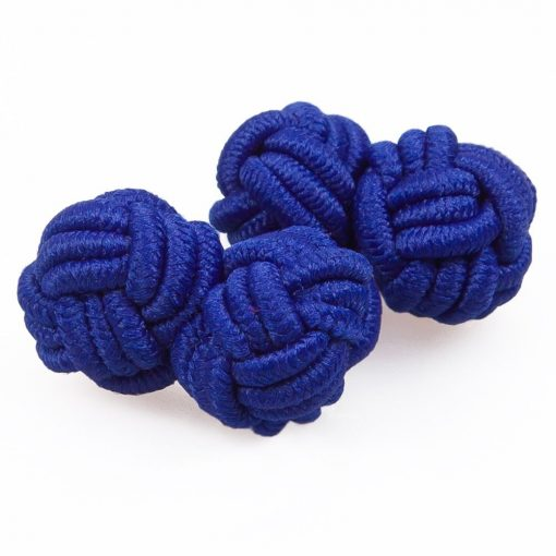Royal Blue Knot Cufflinks