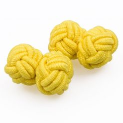 Yellow Knot Cufflinks