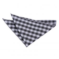 Black Gingham Check Handkerchief / Pocket Square